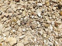 Каменная текстура или текстура утеса в естественном месте Стоковая Фотография RF