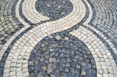 Каменная текстура мостоваой в перспективе Стоковое Изображение