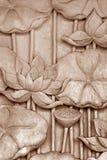 Каменная флористическая скульптура Стоковая Фотография RF