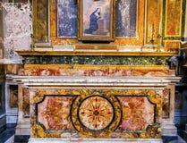 Каменная церковь Рим Италия SS Vincenzo e Anastasio алтара Стоковые Изображения RF
