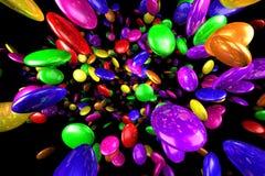Каменная чернота предпосылки смешивания цветов Стоковые Фотографии RF