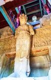Каменное высекая Tianlongshan Будда в Tianlongshan Тайюаня Стоковая Фотография