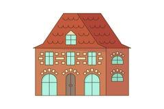 Каменное здание дома или коттеджа Стоковые Изображения RF