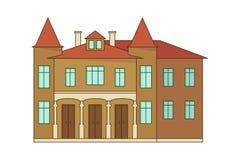 Каменное здание дома или коттеджа Стоковое фото RF
