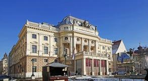 Каменное здание национального театра Братиславы стоковое изображение rf
