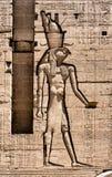 Каменное иероглифическое резное изображение на виске Philae стоковые фотографии rf