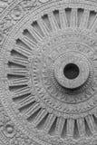 Каменное колесо Dharma в Wat Phra Si Mahathat Стоковые Изображения RF