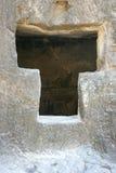 Каменное окно Стоковая Фотография