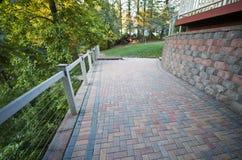 Каменное патио кирпича, Outdoors, Pavers Masonary Стоковая Фотография RF