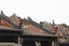 Каменное резное изображение в старой китайской архитектуре Стоковые Фотографии RF