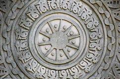 Каменное резное изображение в старой китайской архитектуре Стоковое Фото