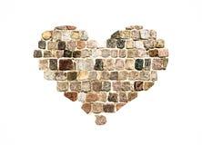 Каменное сердце блока Стоковое Изображение