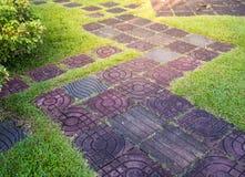Каменное тропа в саде Стоковые Фото