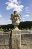 Каменное украшение вазы в hora Kutna Стоковая Фотография RF