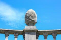 Каменное яичко - внешняя деталь аббатства Einsideln Стоковая Фотография RF