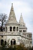 Каменные башни бастиона Fishermans в Будапеште, Венгрии Стоковое фото RF
