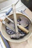 Каменные высекая инструменты Стоковые Изображения