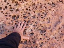 Каменные детали размывания в Altiplano дезертируют, Боливия, Южная Америка стоковое фото