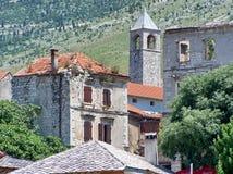 Каменные дома на холме Стоковое фото RF