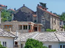Каменные дома на холме Стоковые Фото