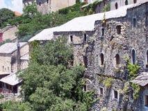 Каменные дома на холме Стоковое Фото