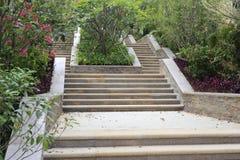 Каменные лестницы в жилой площади Стоковая Фотография RF
