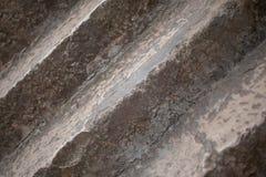 Каменные лестницы в старом городке closeup стоковые фотографии rf