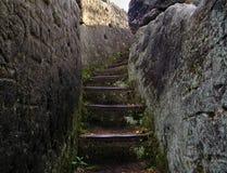 Каменные лестницы в утесе Стоковая Фотография RF