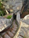 Каменные лестницы в утес Стоковое Изображение RF