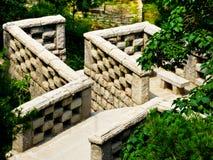 Каменные лестницы на горе Laoshan в Qingdao стоковая фотография