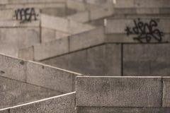 Каменные лестницы на ноче Стоковое фото RF