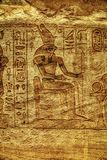 Каменные изображения барельеф высекаенные в стену на Luxor Temple в Асуане Египте стоковая фотография rf