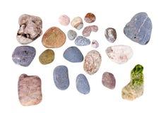 Каменные камешки моря изолированные на белизне Стоковое Изображение RF