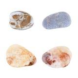 Каменные камешки моря на белизне Стоковое фото RF