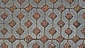 Каменные кирпичи и пол цемента Стоковое Фото