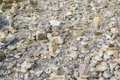 Каменные кучи на Pointe de Ручке-Hir Стоковое Изображение