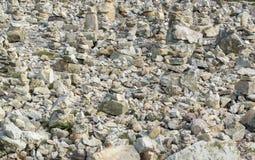 Каменные кучи на Pointe de Ручке-Hir Стоковое фото RF
