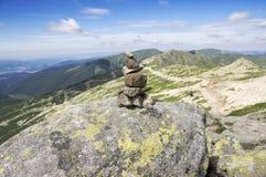 Каменные люди на верхней части держателя Chopok, низких гор Tatra, низкого Tatras Стоковое Изображение RF