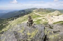 Каменные люди на верхней части держателя Chopok, низких гор Tatra, низкого Tatras Стоковые Изображения RF