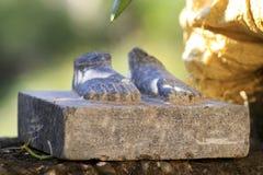 Каменные ноги Стоковое Изображение RF