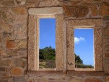 каменные окна Стоковые Фото