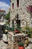 Каменные дома в греческой деревне Стоковые Фотографии RF