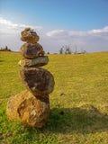 Каменные пирамиды из камней, пункт Nakalele, Мауи, Гаваи Стоковые Изображения RF