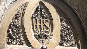 Каменные розы на церков Стоковая Фотография RF