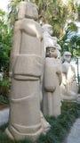Каменные скульптуры, сады скульптуры Энн Norton, West Palm Beach, Флорида Стоковое фото RF