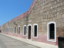 каменные стены села Стоковая Фотография