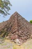 Каменные стены (ishigaki) замка Kochi, городка Kochi, Японии Стоковые Изображения RF