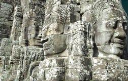 Каменные стороны природы Будды Стоковая Фотография RF