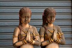 Каменные тайские девушки стоковая фотография rf