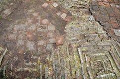 Каменные текстура/предпосылка мостоваой Старый пол в Instanbul, Турции Стоковые Изображения RF